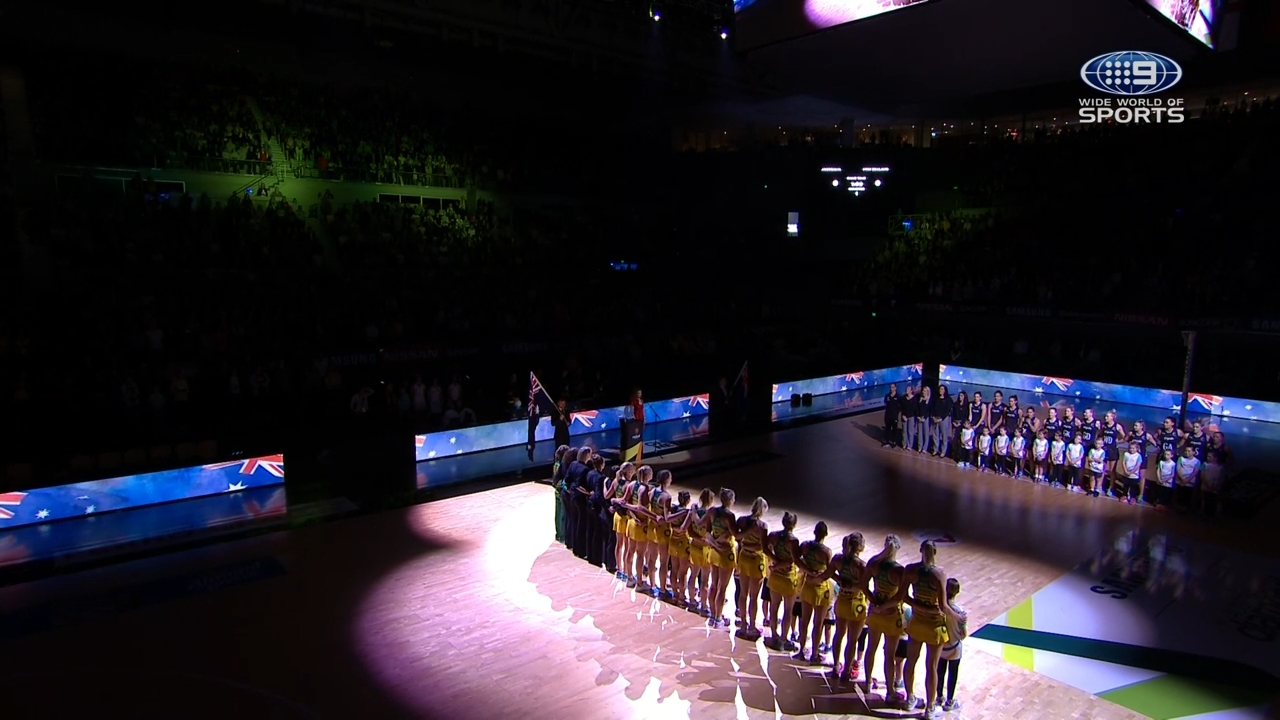 Aussie Diamonds in anthem fail
