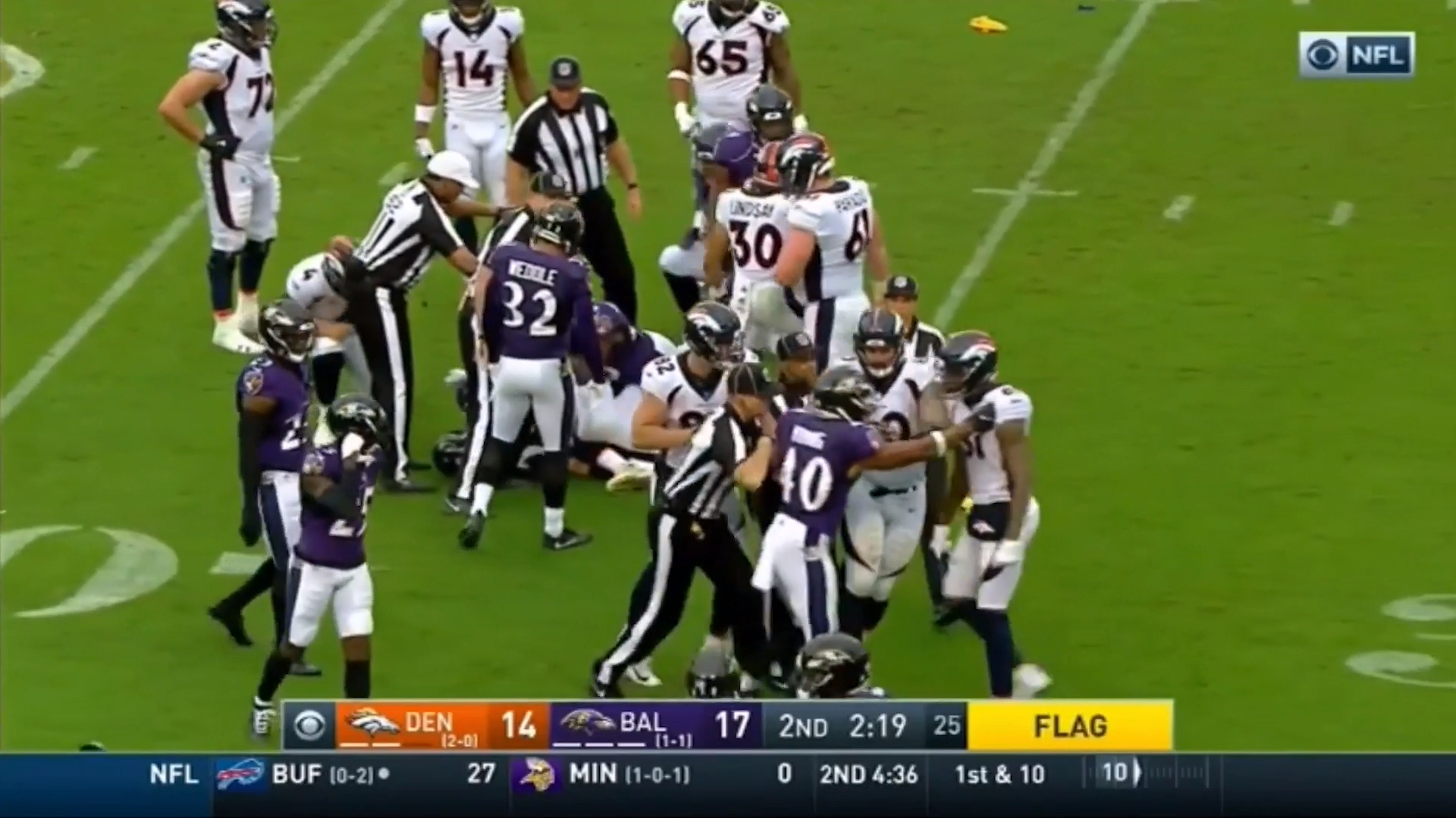 Broncos rookie ejected for throwing punches