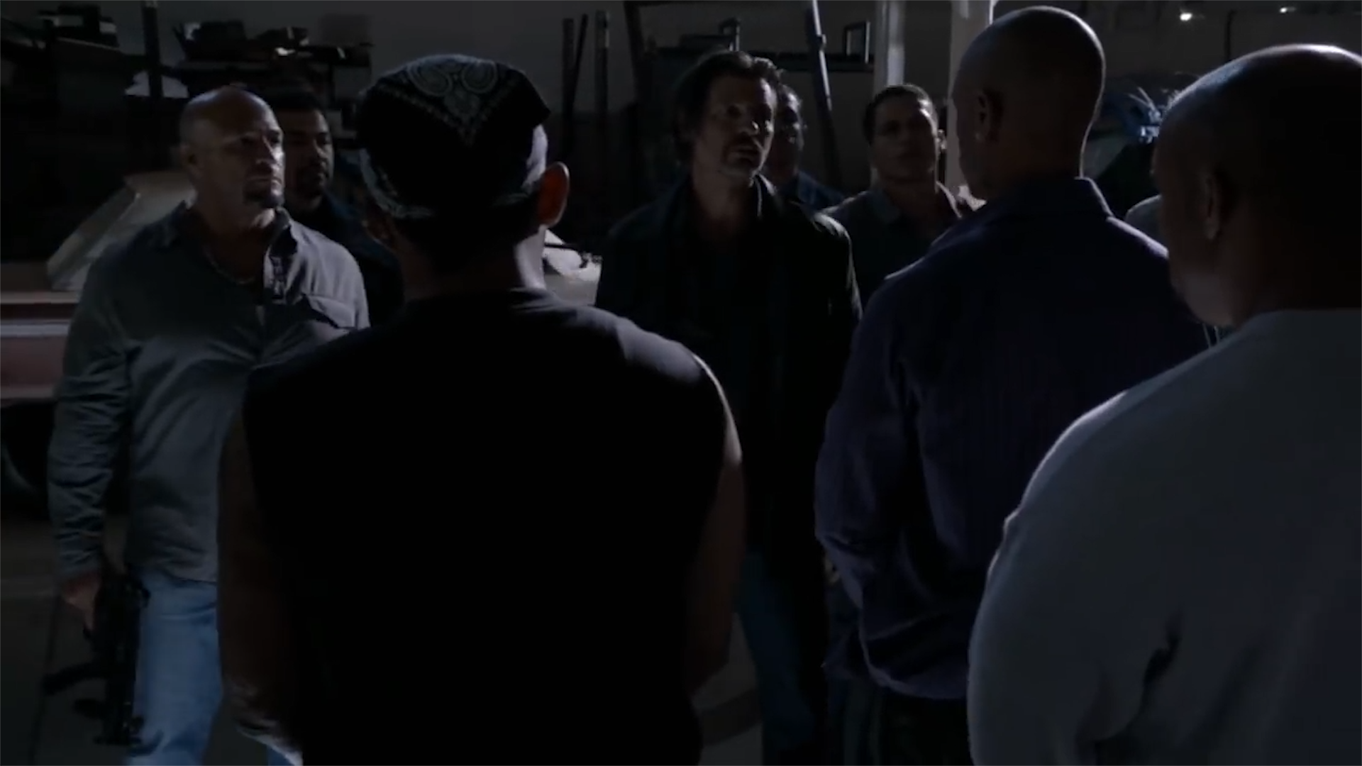 'Sons of Anarchy' warehouse gunfight