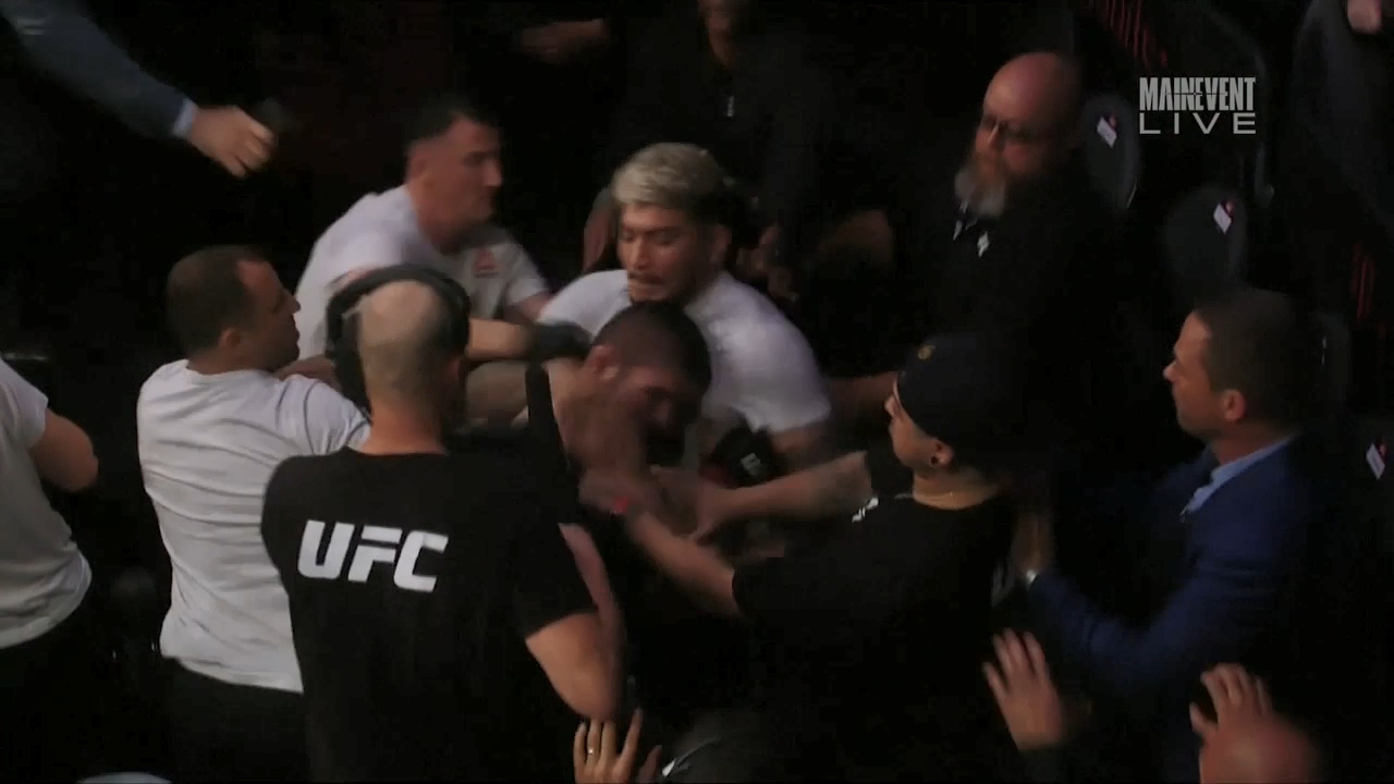 All-in brawl erupts at UFC 229