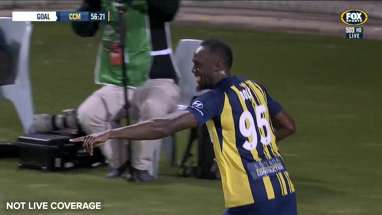 Bolt scores his first for Mariners