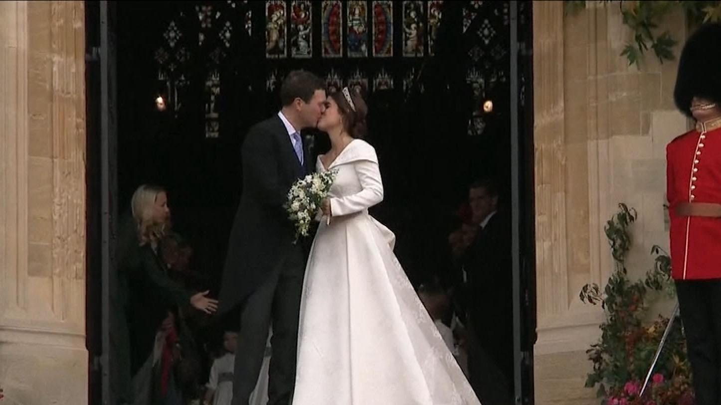 Royal Wedding Kiss.Why Princess Eugenie And Jack Brooksbank Had The Most