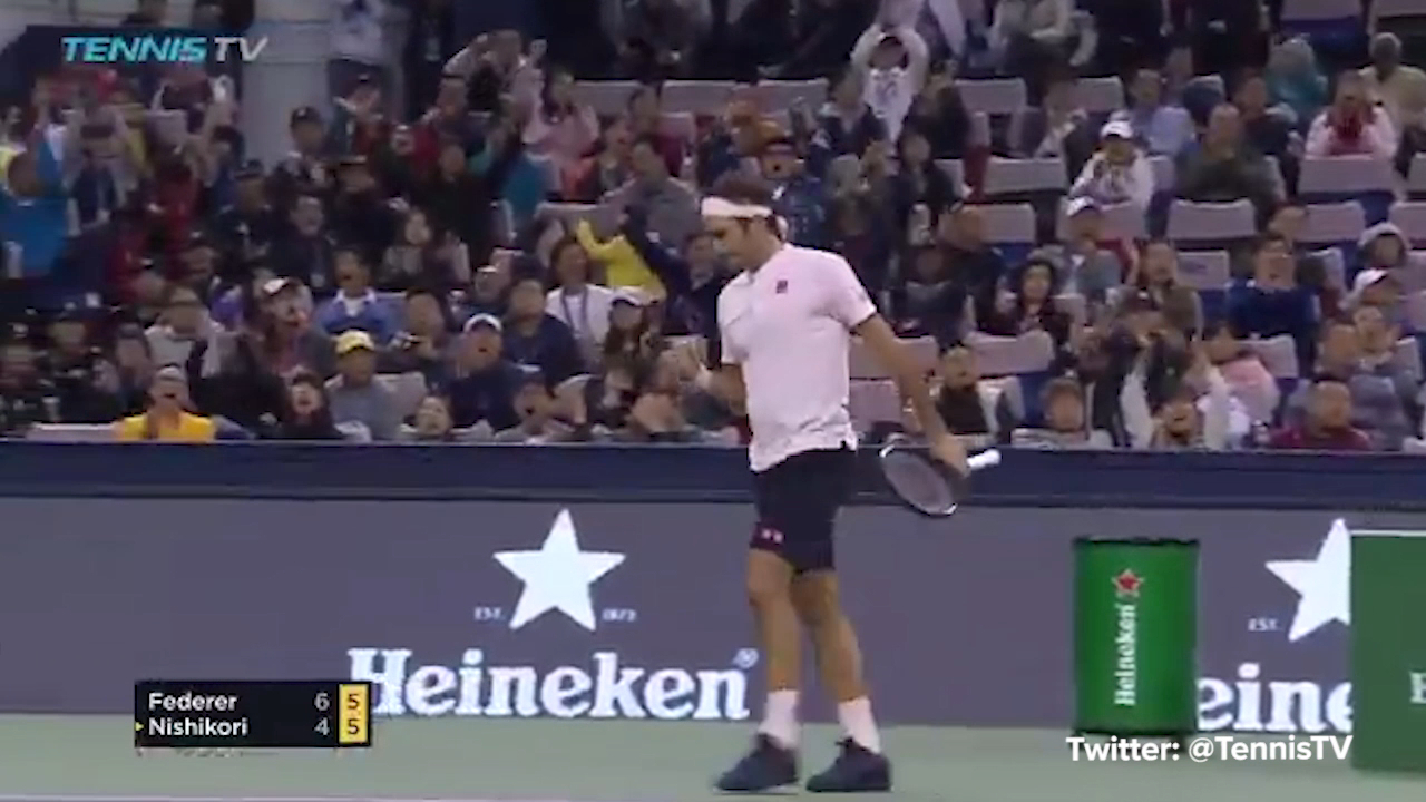 Federer stuns Nishikori with incredible winner