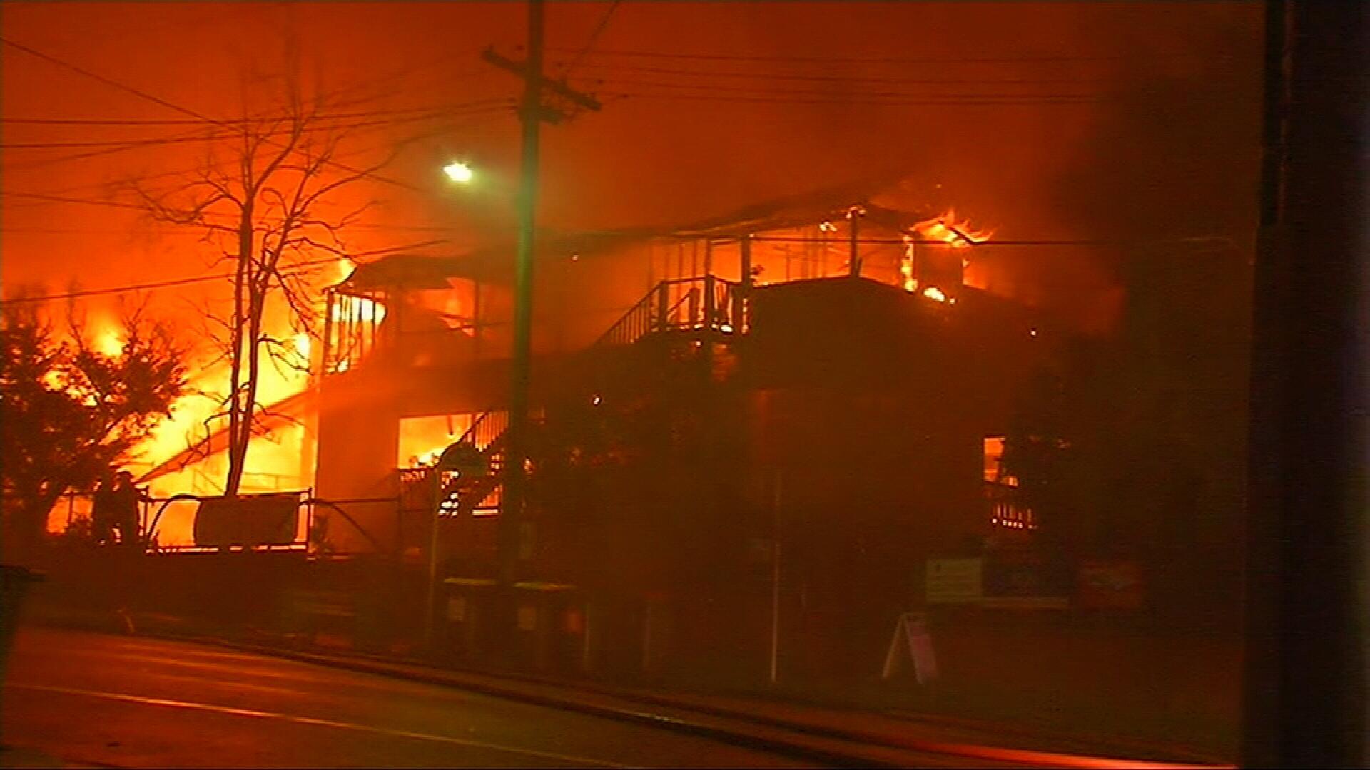 Brisbane school inferno