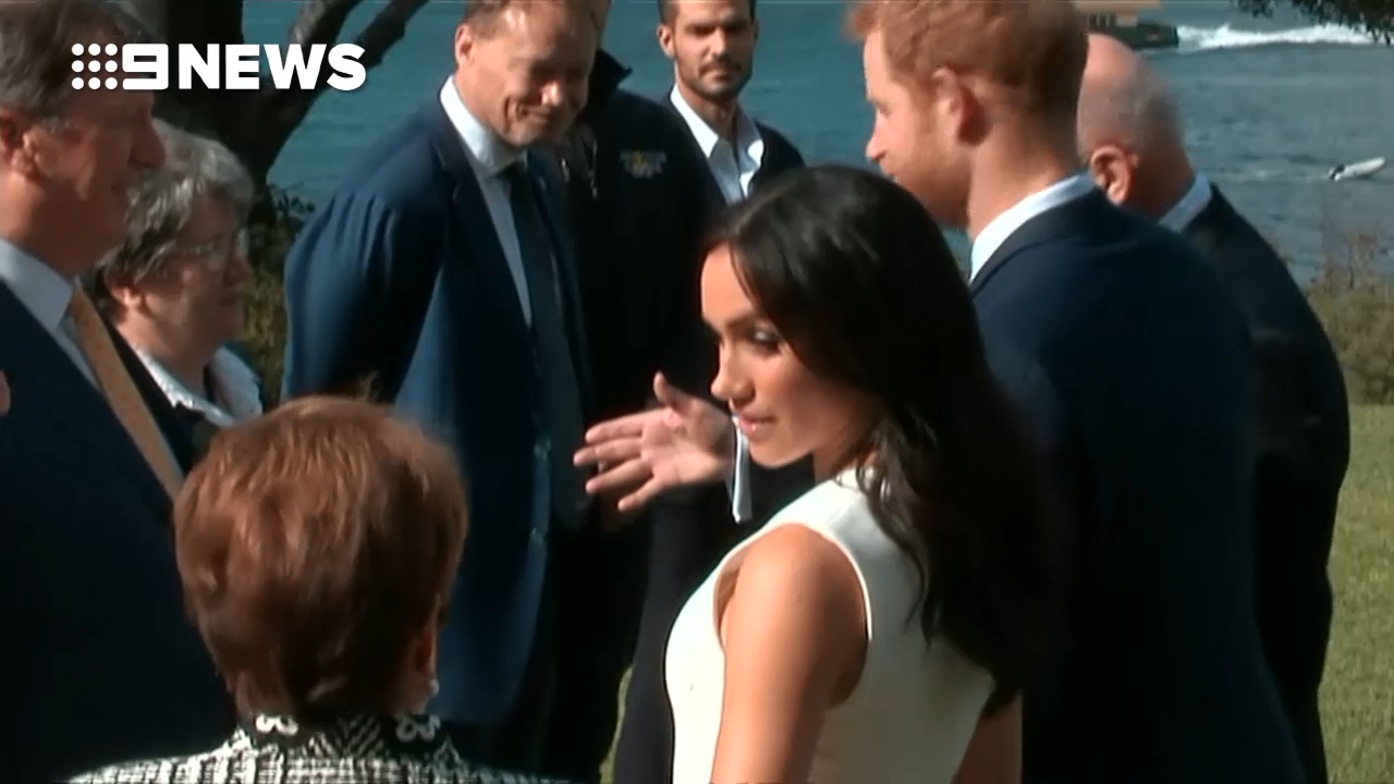 Prince Harry and Meghan at Admiralty House