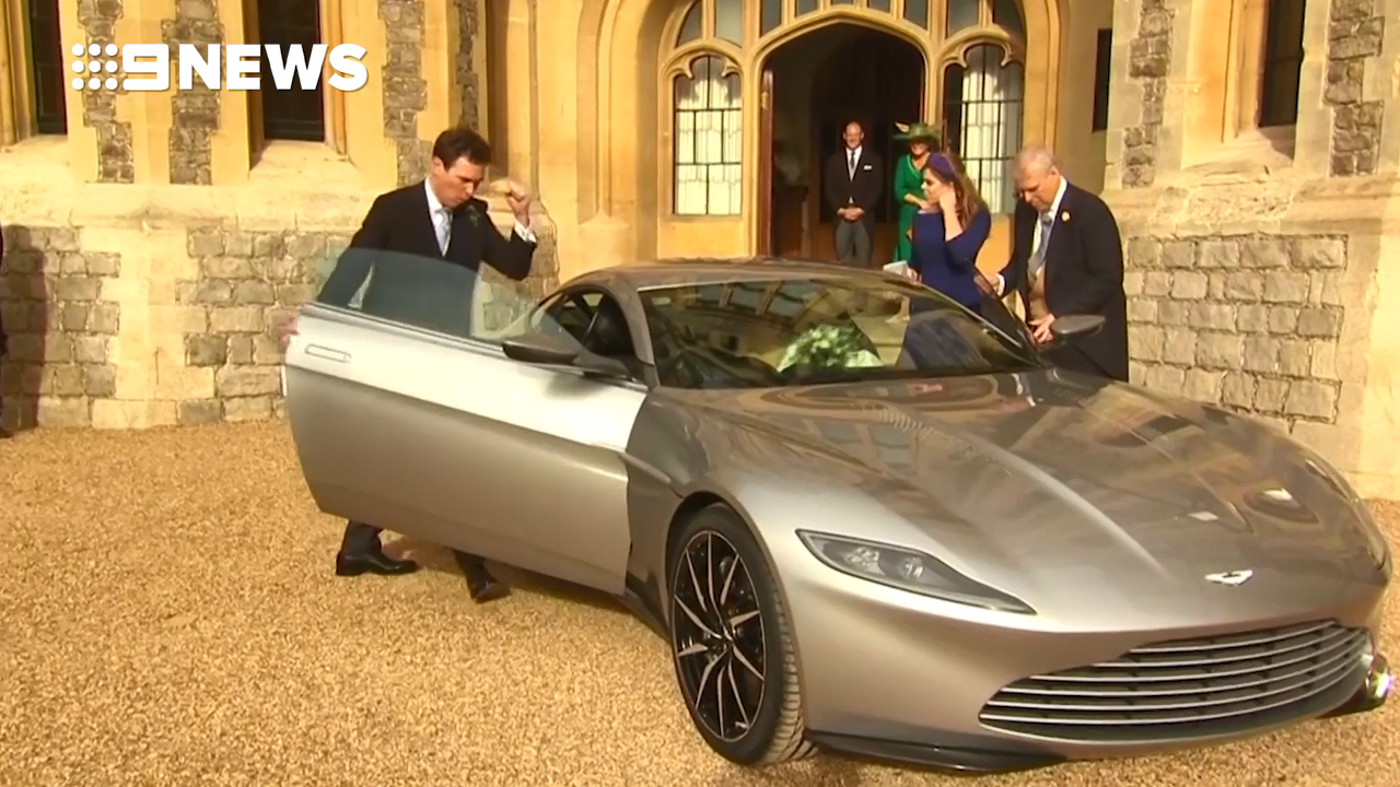 Aston Martin DB10 speeds Princess Eugenie and Jack Brooksbank off to married life