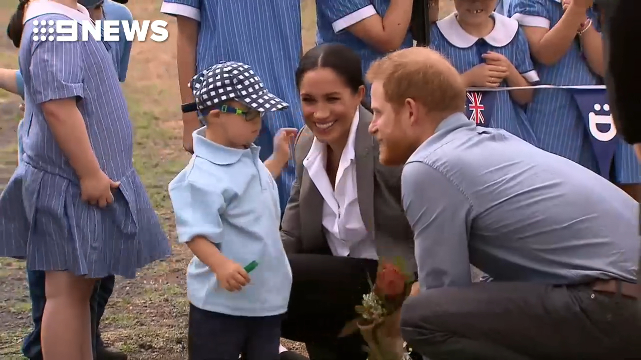 Prince Harry and Meghan meet local Dubbo school children
