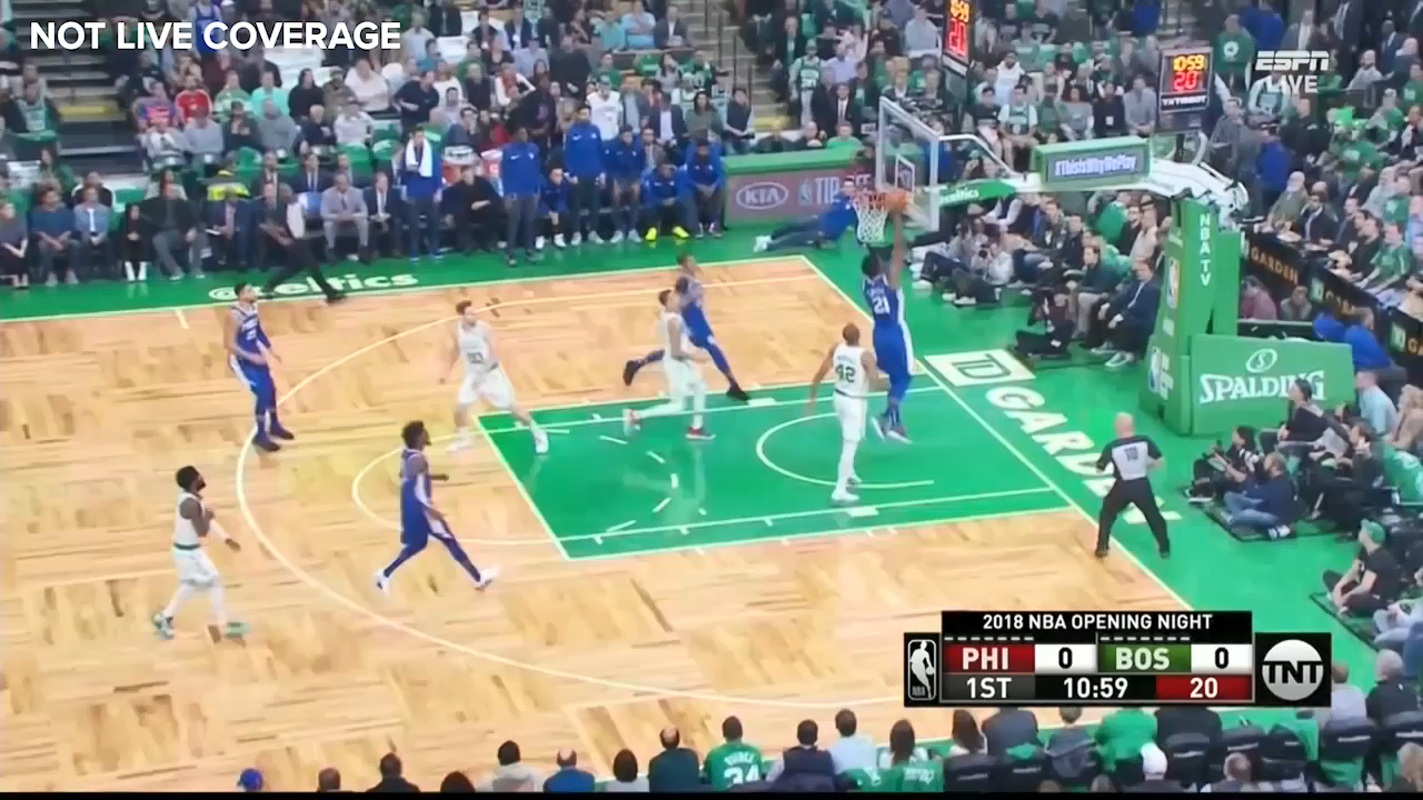 Simmons sets up the opening basket of the season