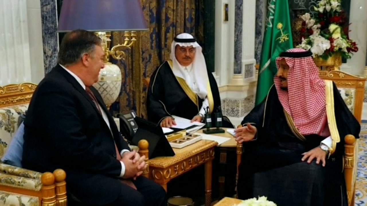 Mike Pompeo and Saudi King hold talks about missing journalist