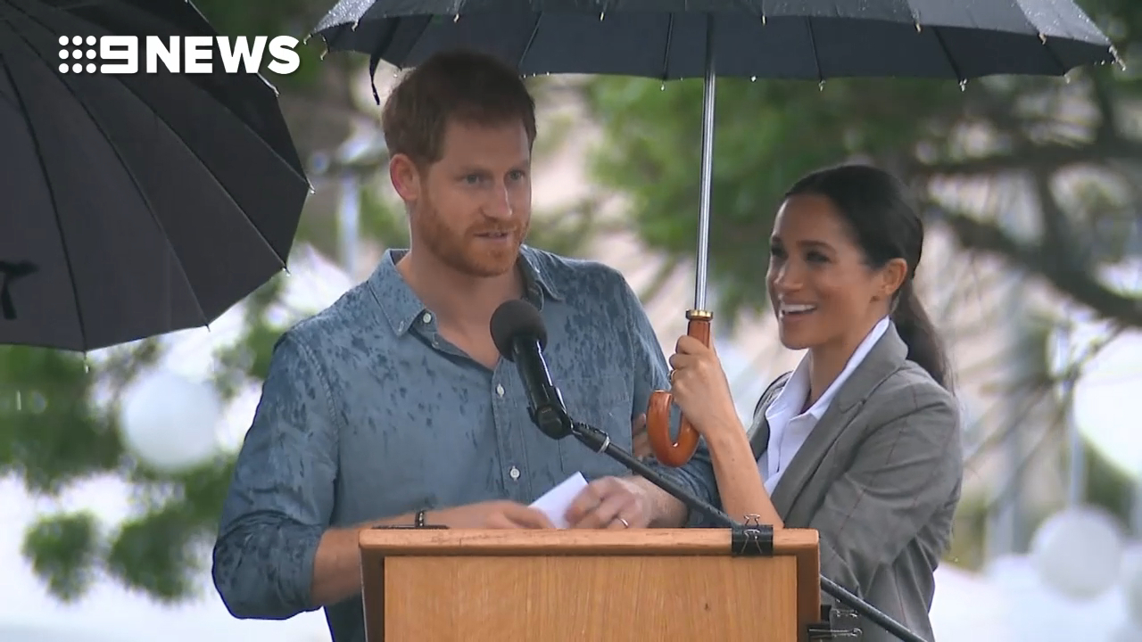 Prince Harry speaks at the Dubbo Community BBQ