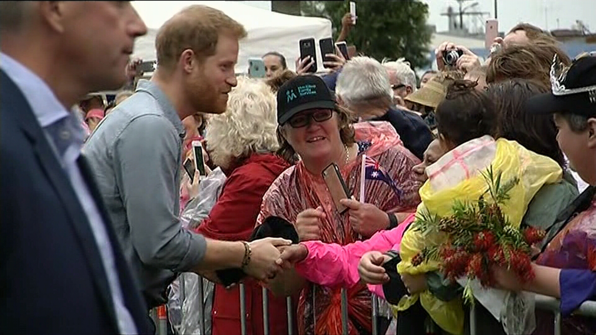 Prince Harry and Meghan at the Dubbo Community BBQ