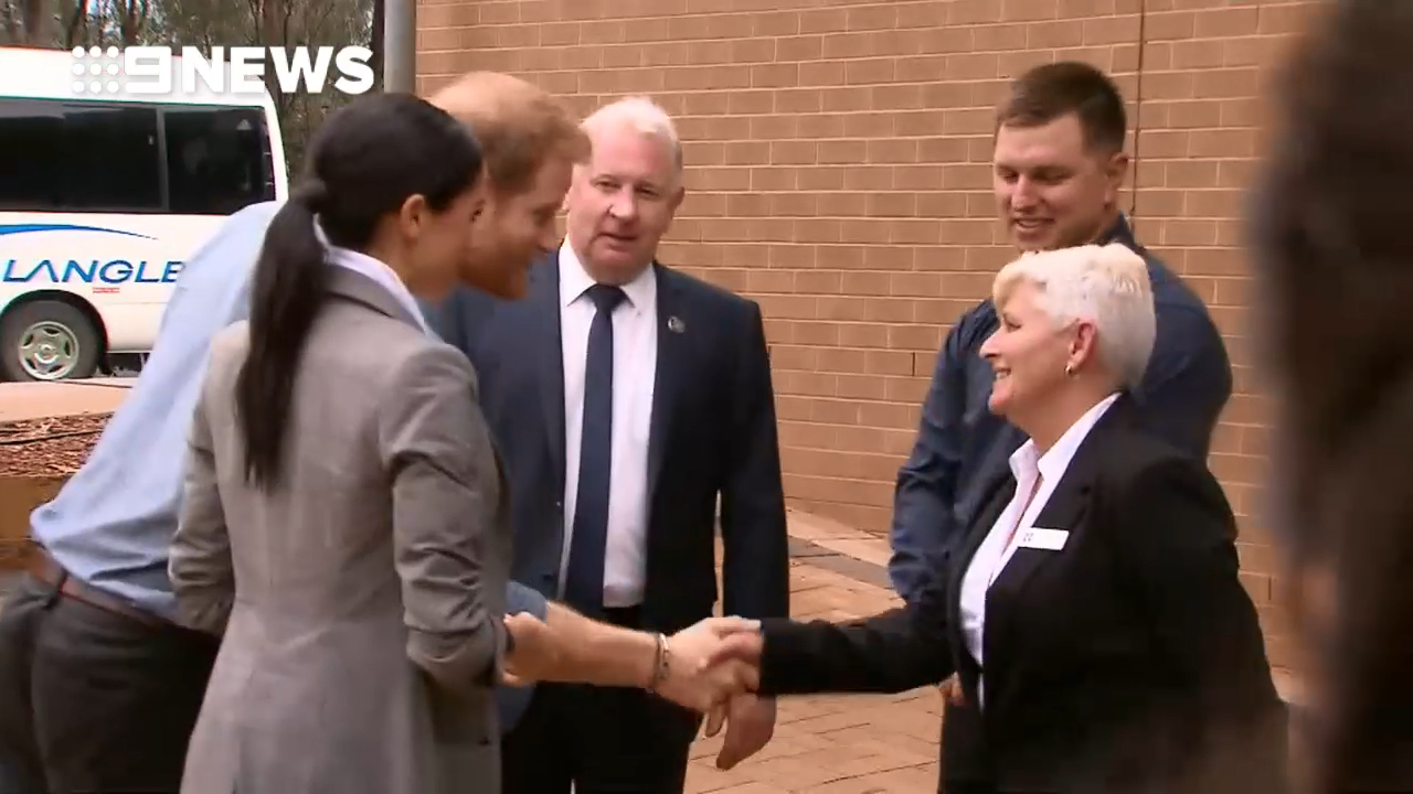Prince Harry and Meghan arrive at Dubbo school