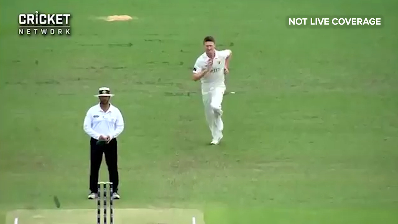 Burns clean bowled by Bird