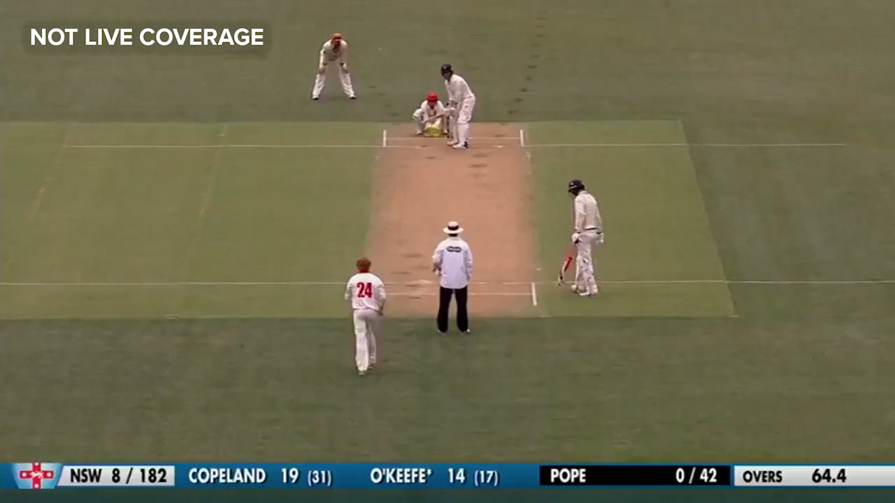 Pope's incredible debut wicket