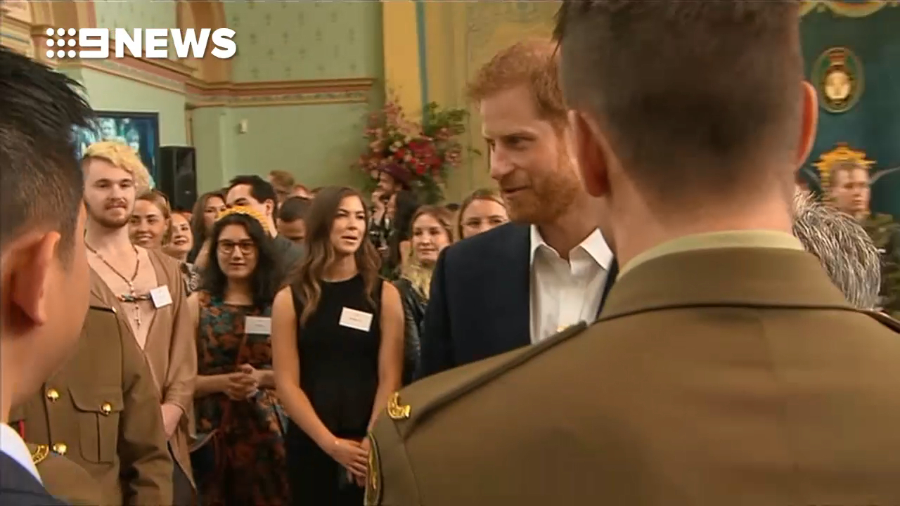 Prince Harry and Meghan meet young leaders