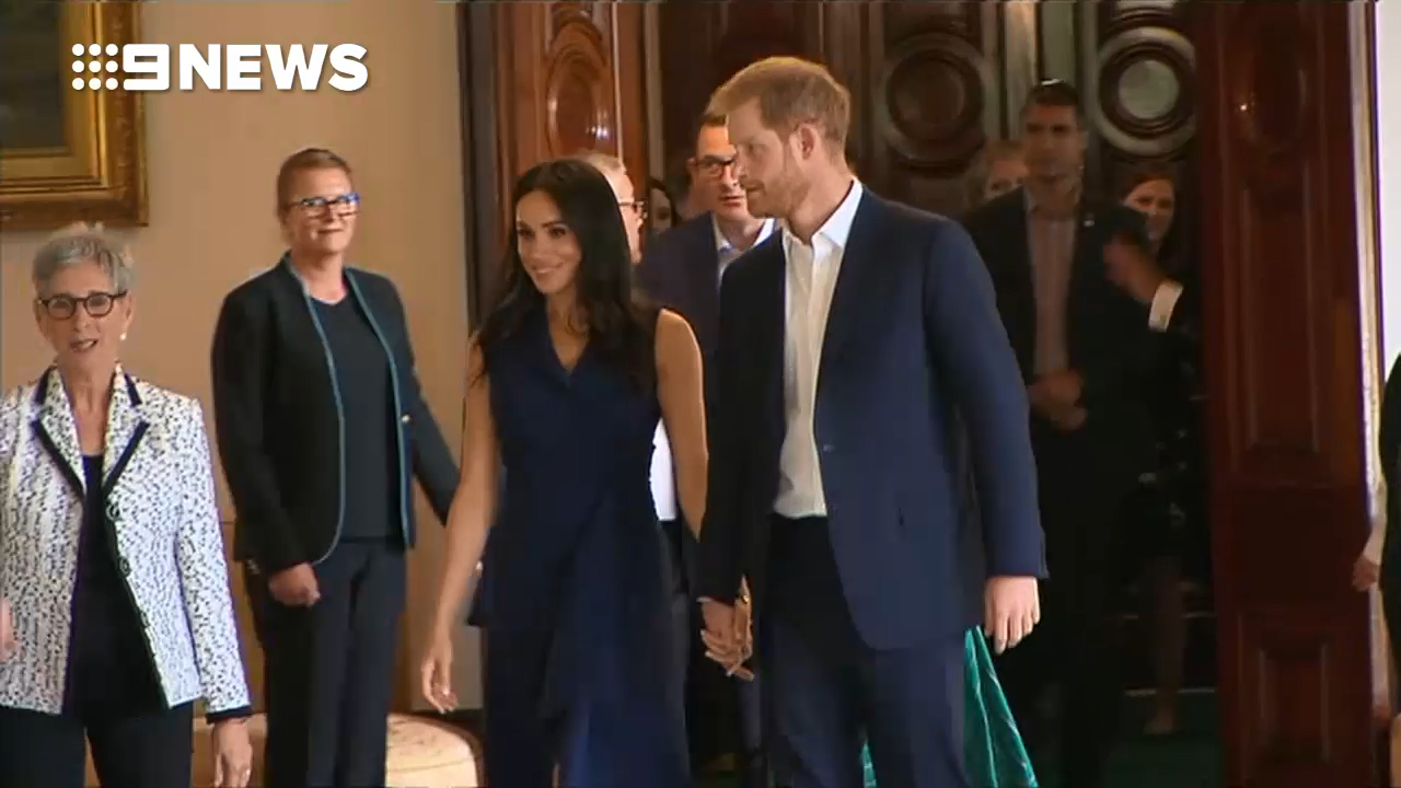 Prince Harry and Meghan inside Government House Melbourne