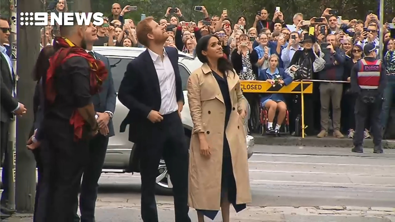 Prince Harry and Meghan at Fitzroy Lane