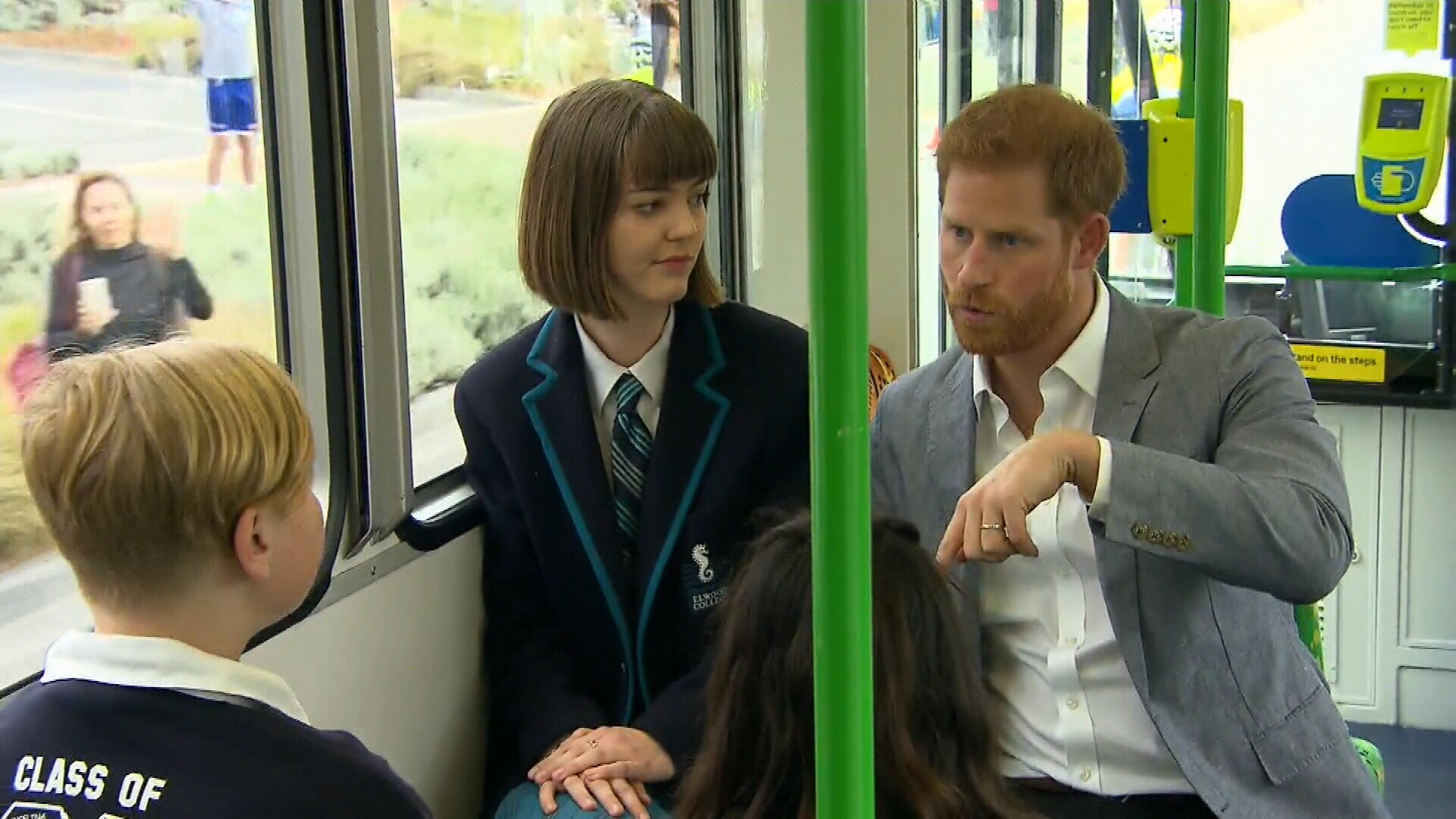 Prince Harry and Meghan take a tram ride in Melbourne