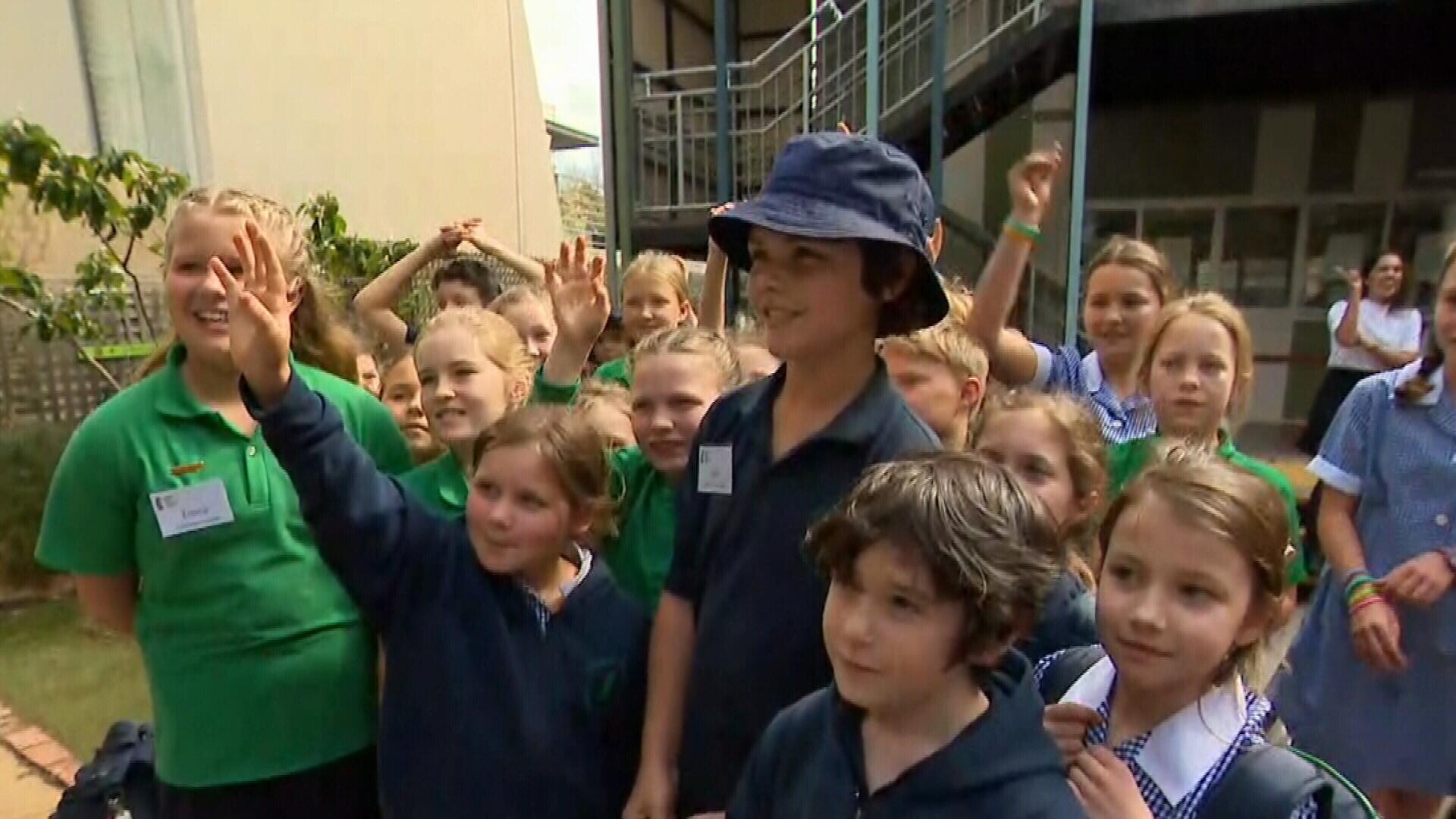 School kids speak on meeting Prince Harry and Meghan