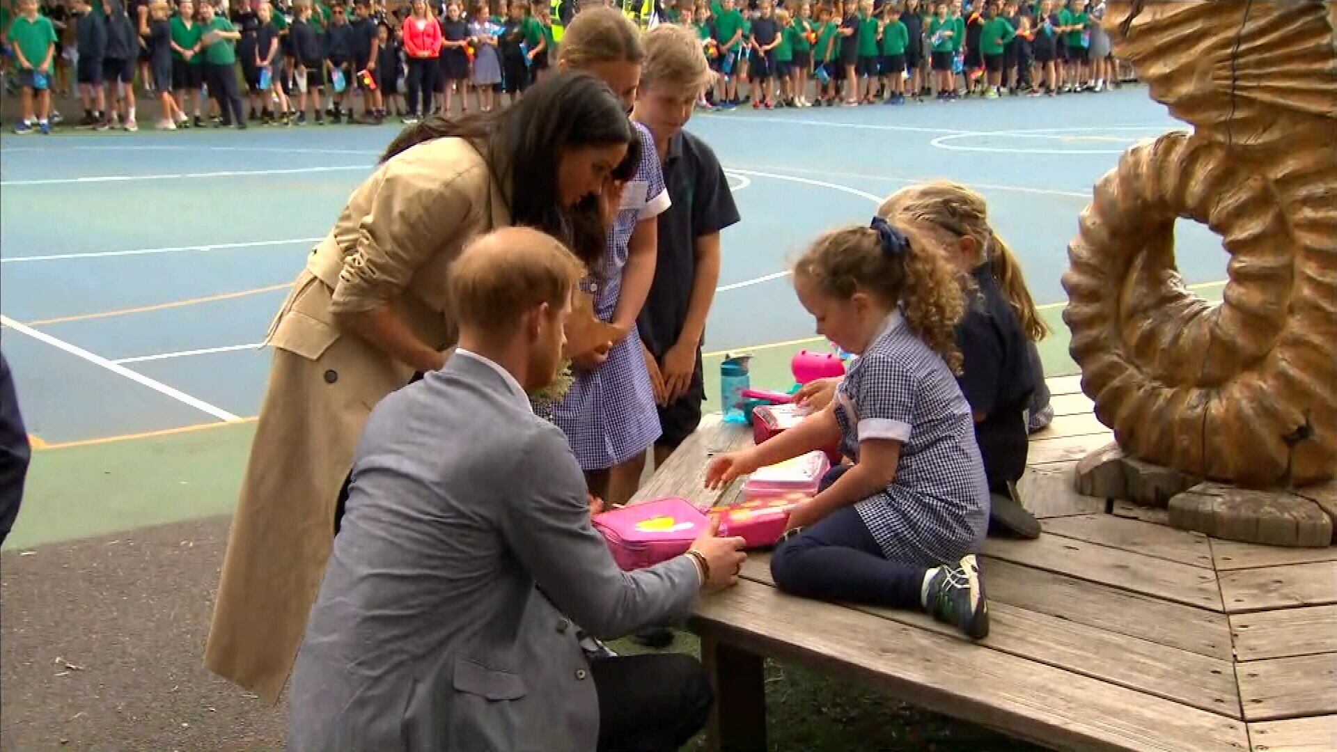 Melbourne students treated to royal visit
