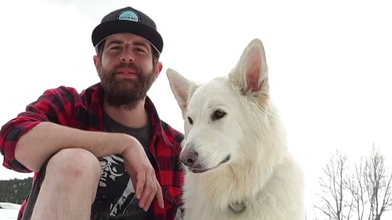 An Australian man is travelling the world with his dog