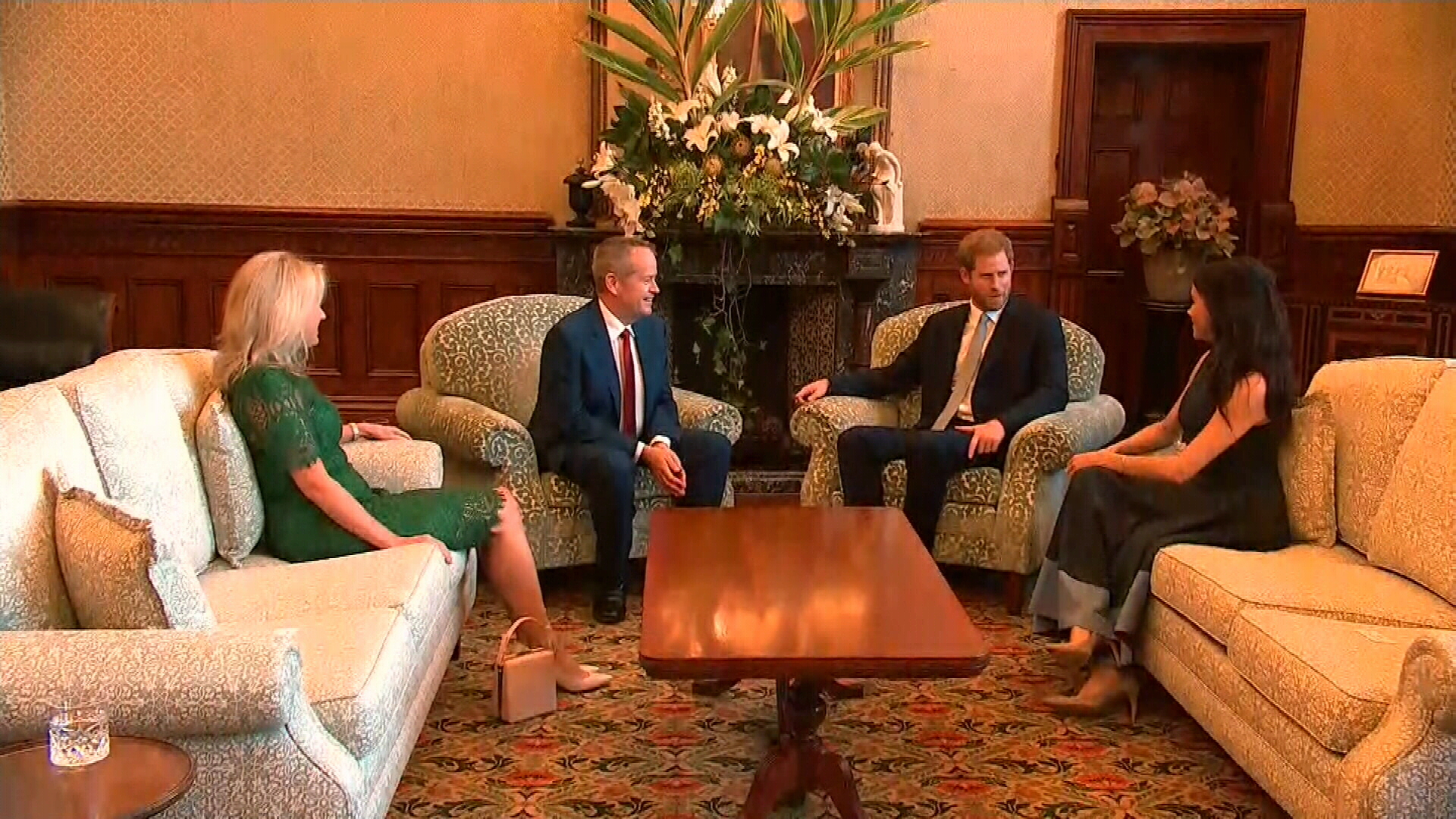 Prince Harry and Meghan meet with Bill Shorten