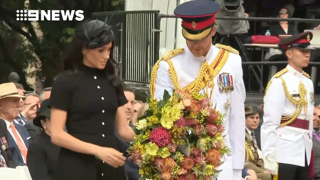 Royal tour day five: Prince Harry and Meghan visit ANZAC memorial