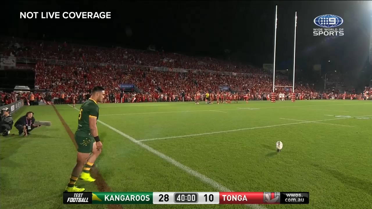 Reckless Tonga challenge almost gifts Roos 8-point try