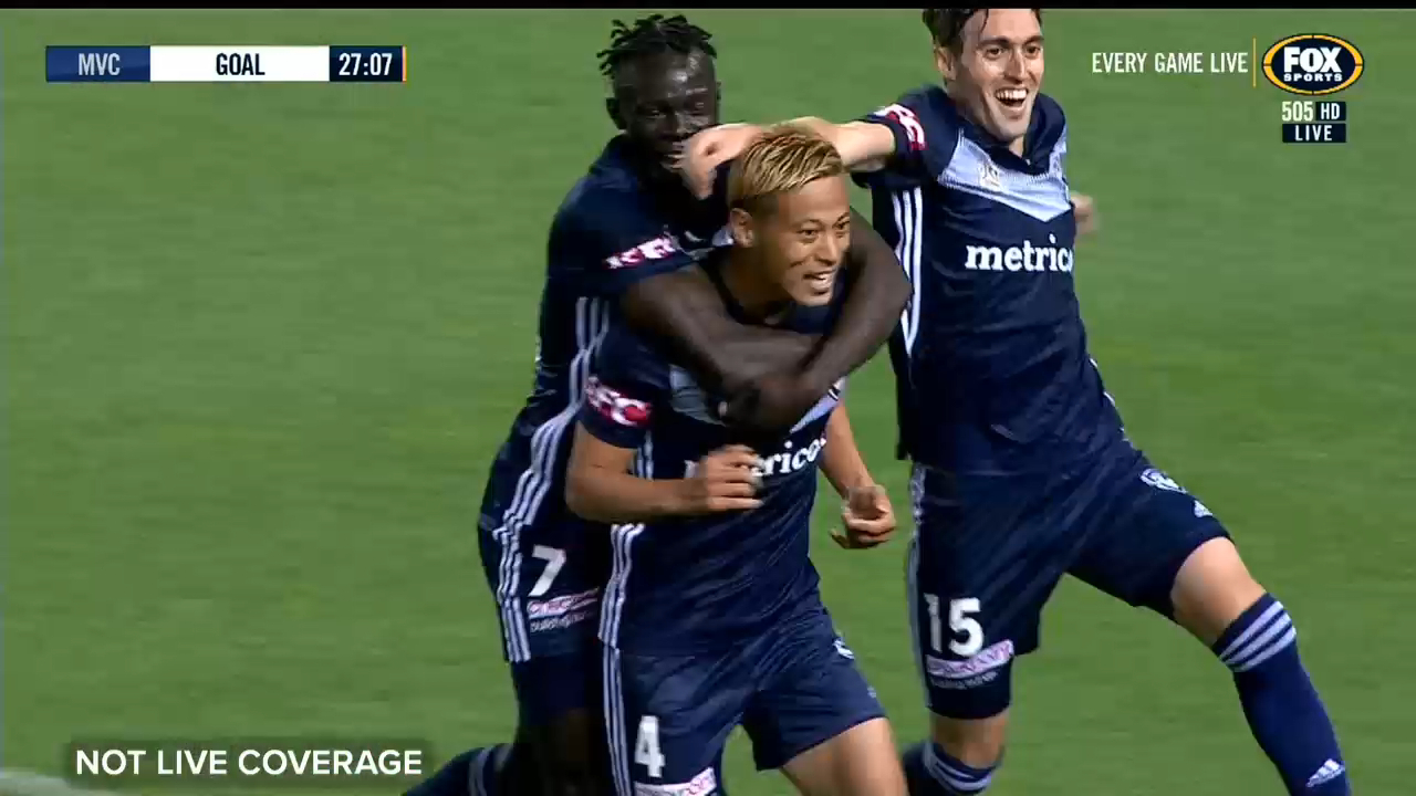 Honda scores in Victory A-League debut