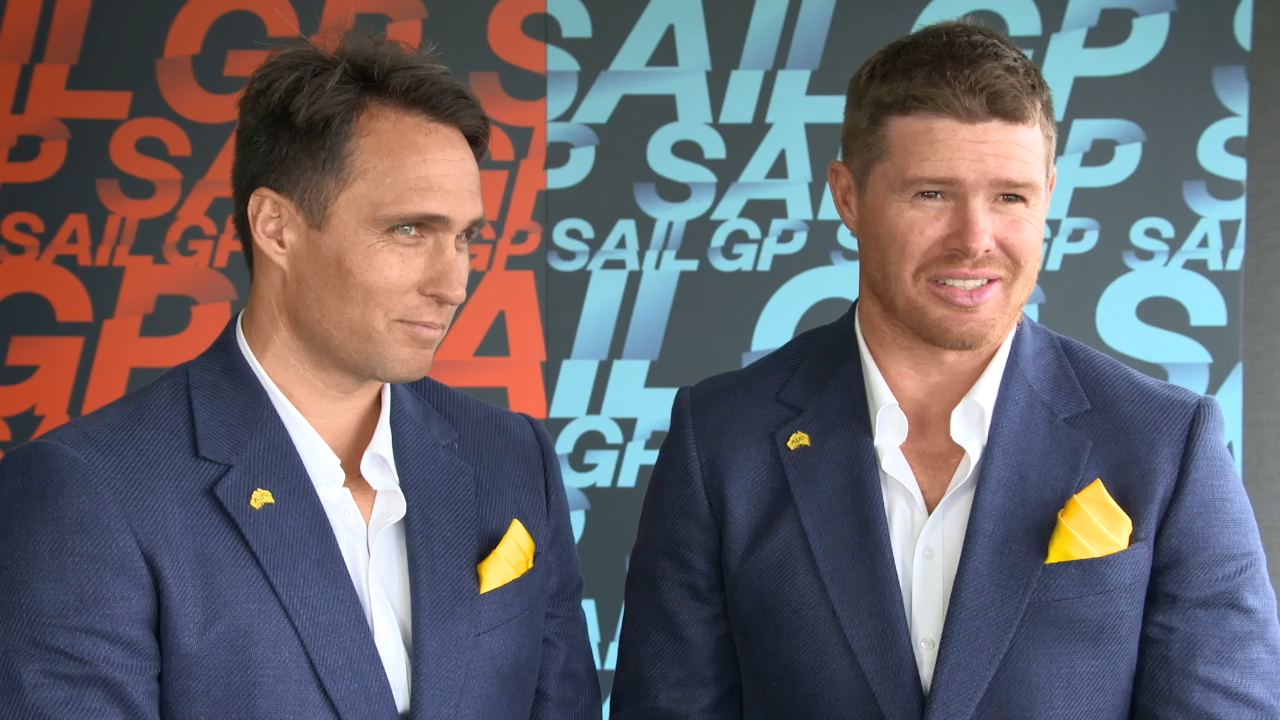 Hurst and Slingsby talk at Sail GP launch