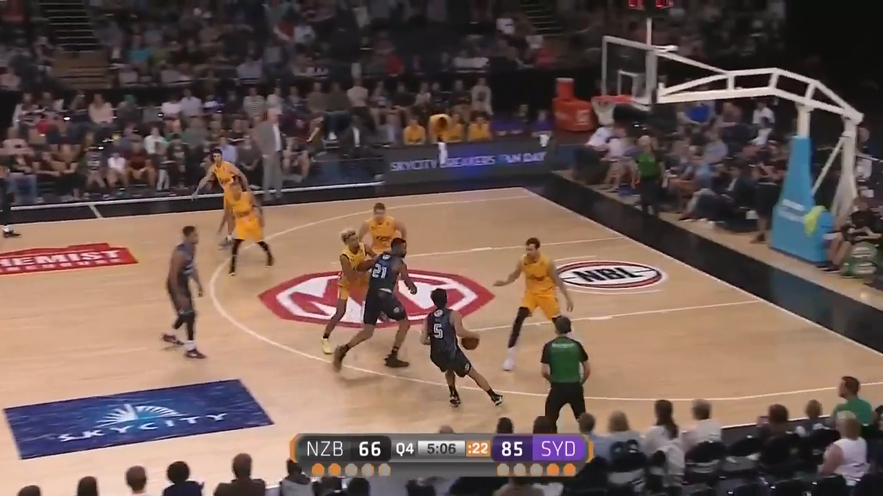 Bogut dominates the paint