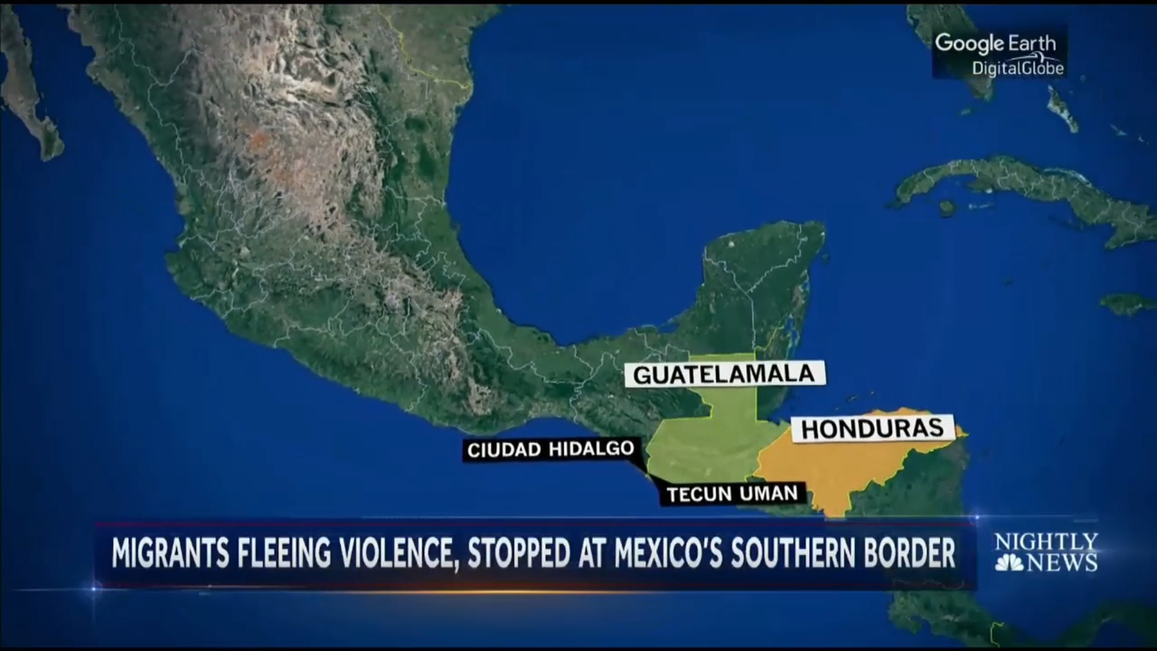 Thousands of migrants halted in Central America