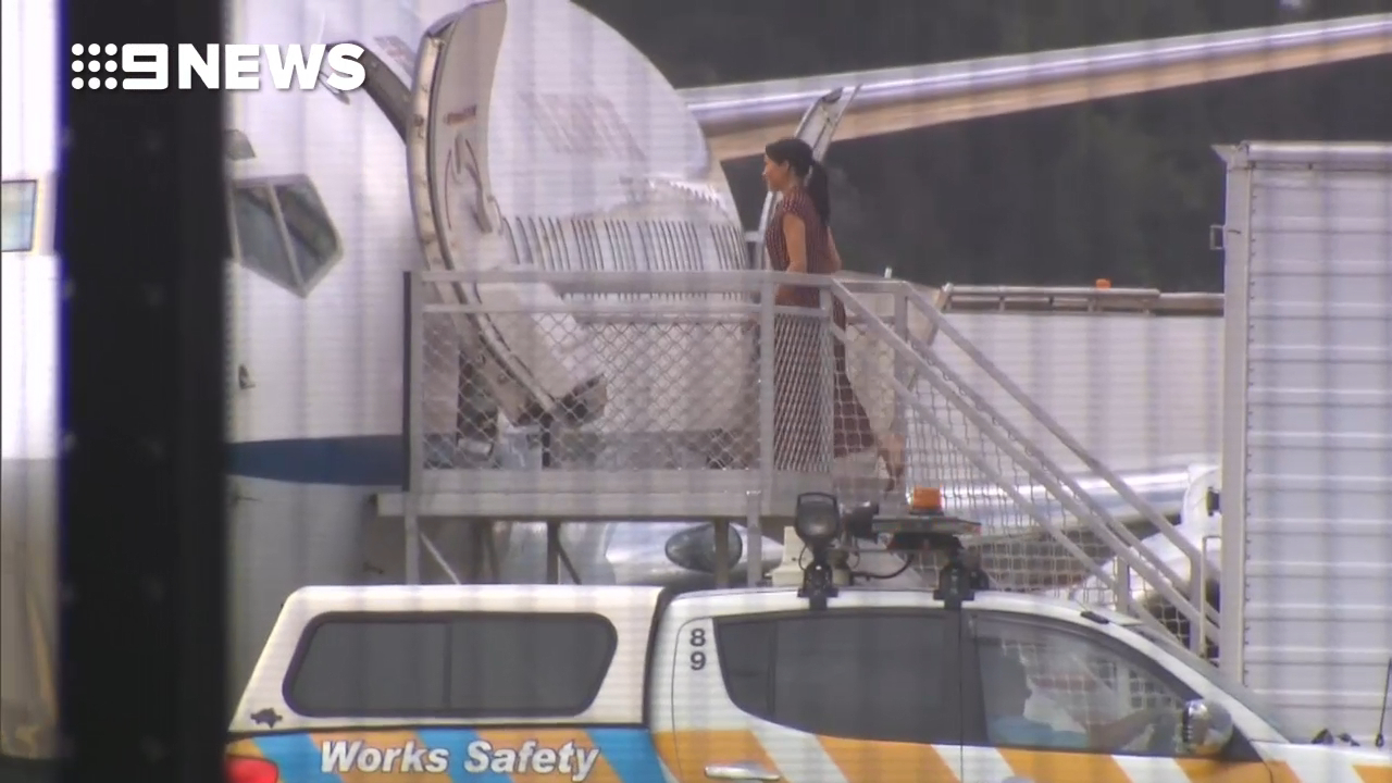 Prince Harry and Meghan leave for Fraser Island