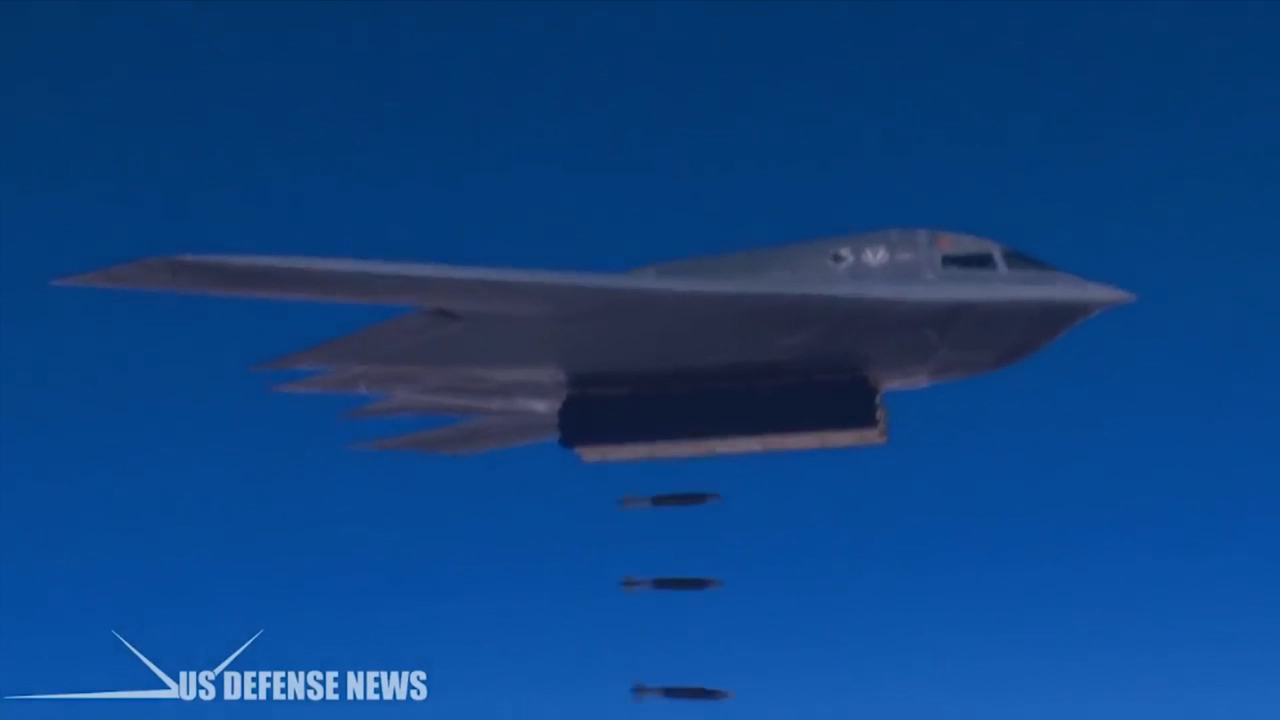 The US Air Force B-2 stealth bomber