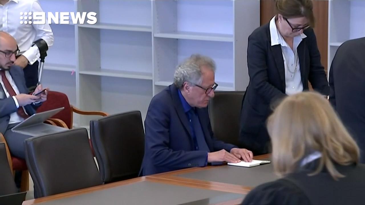 Geoffrey Rush defamation trial begins