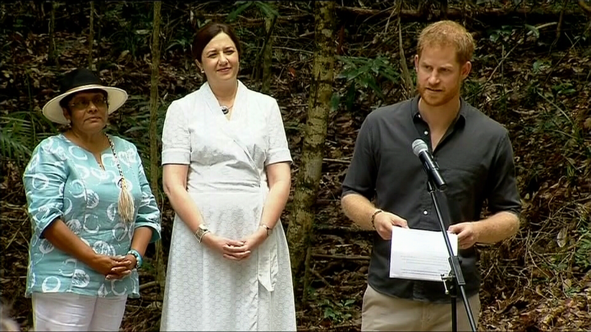 Prince Harry's speech at Pile Valley