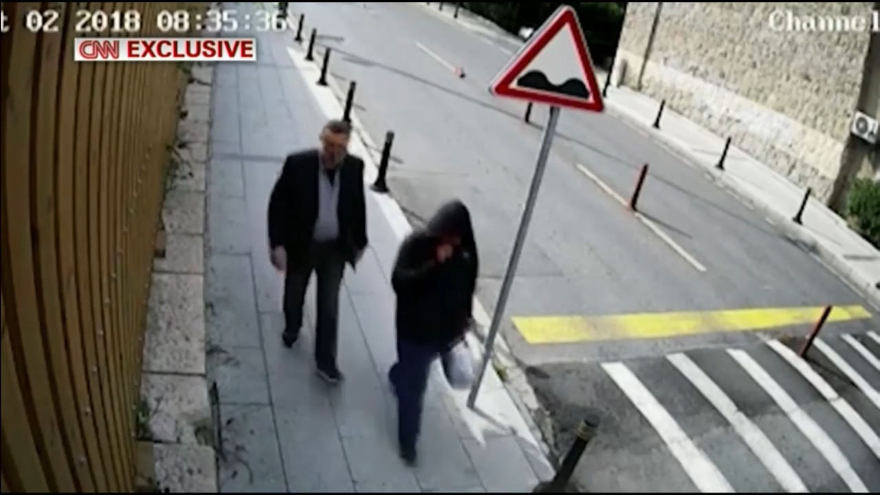 CCTV 'shows Saudi operative dressed as killed journalist'