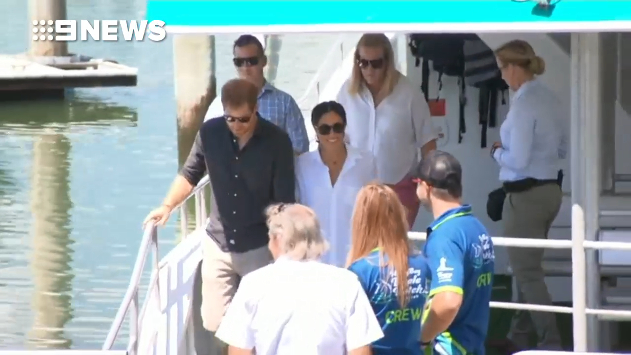 Prince Harry and Meghan at Hervey Bay