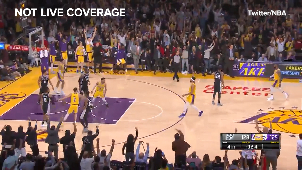 Clutch LeBron 3 sends it to OT