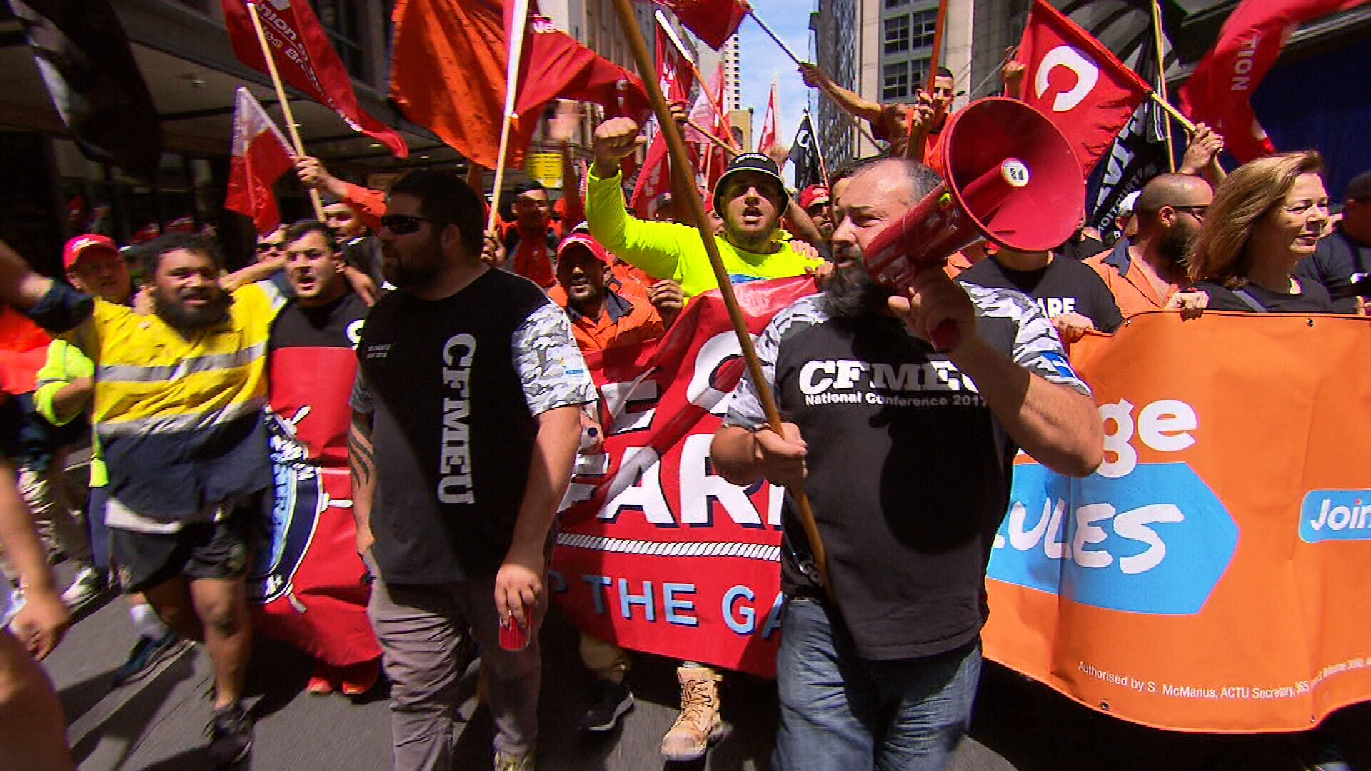 Workers rally across Australia