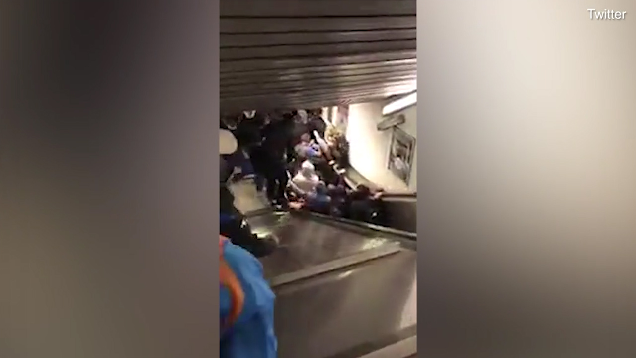 Football fan loses foot in Rome escalator accident