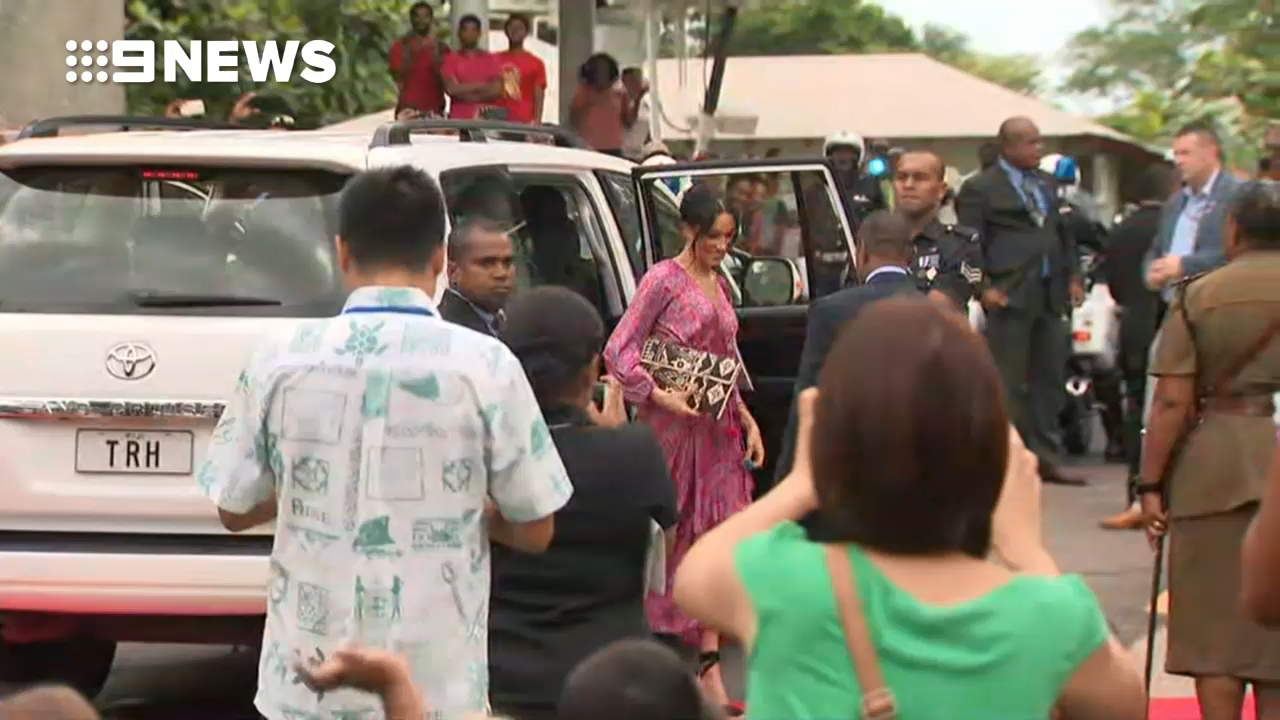 Prince Harry and Meghan visit the University of the South Pacific