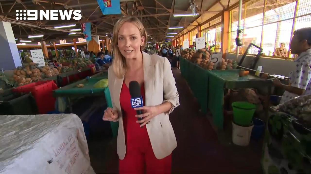 Sophie Walsh tours a Fijian market