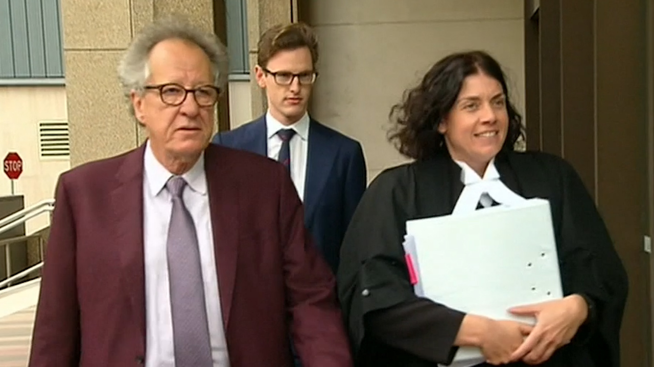 Geoffrey Rush's third day in court