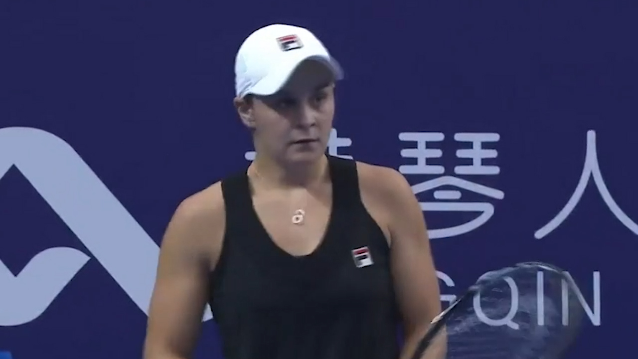 Barty progresses in China