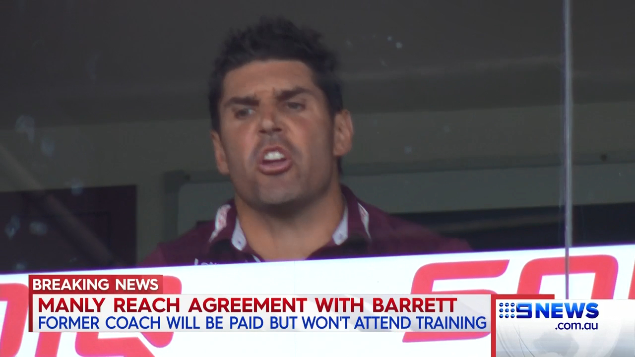 Barrett on the outs at Manly