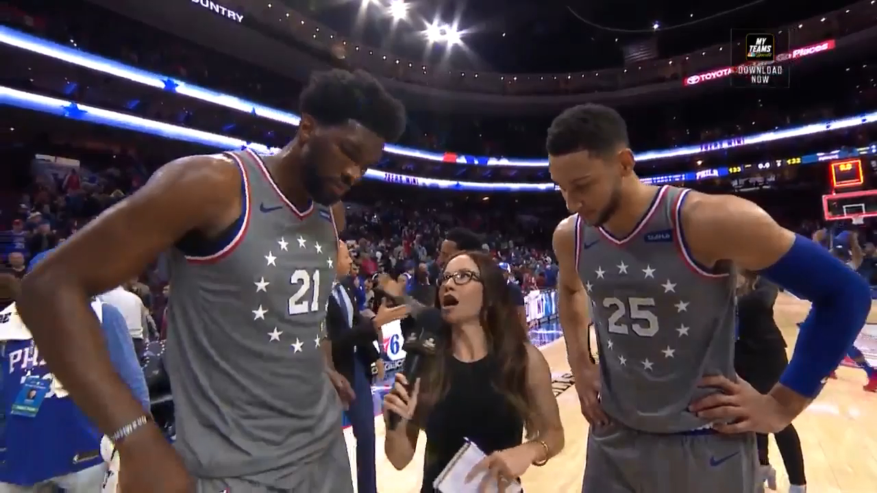 Embiid praises Simmons defense