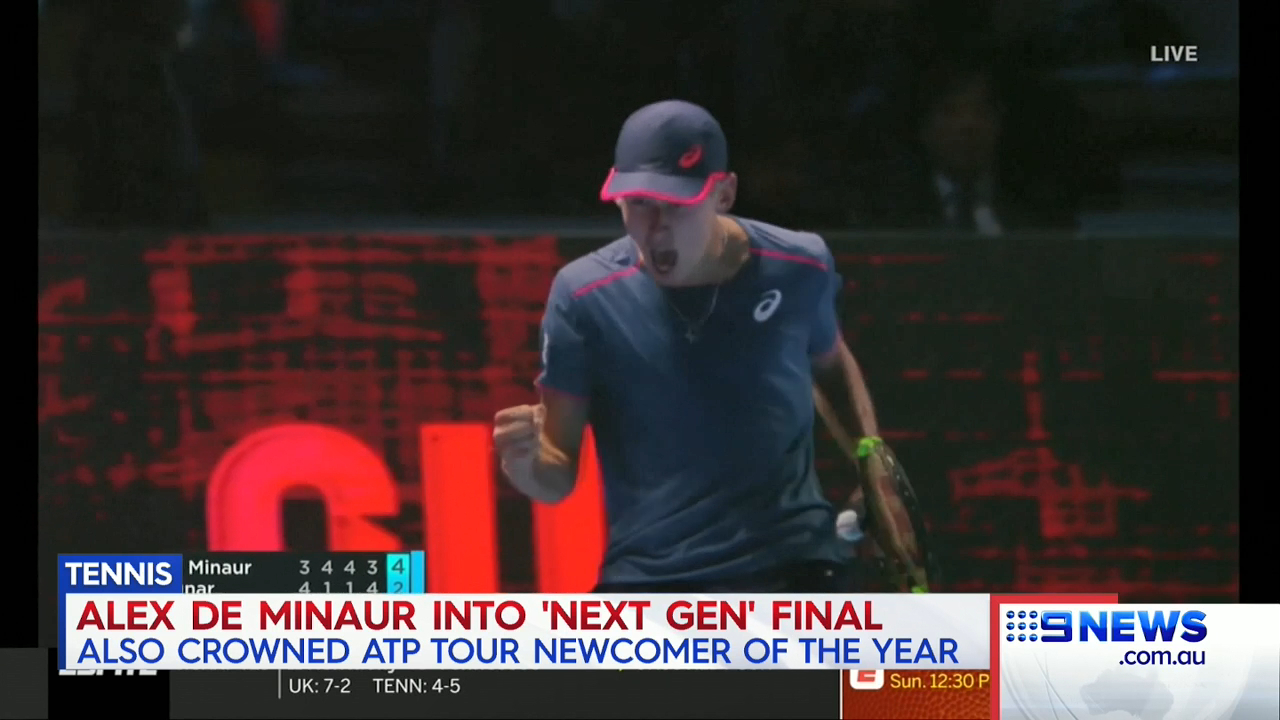 De Minaur wins ATP Tour award
