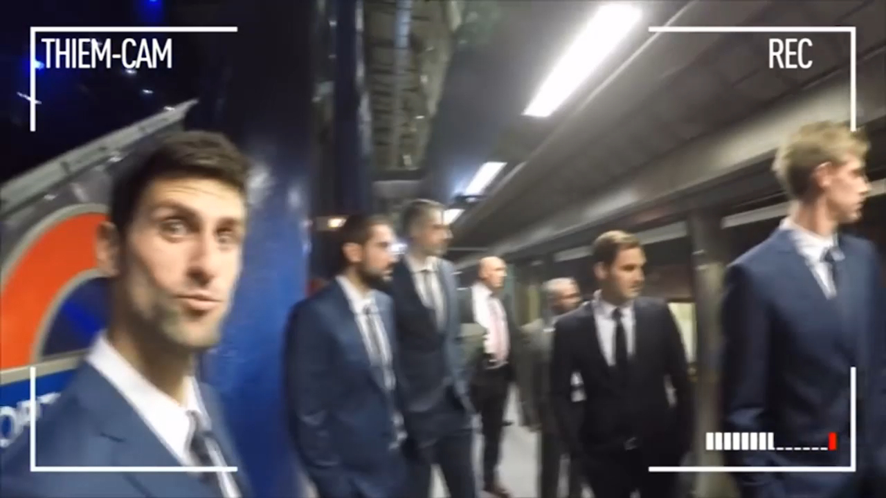 ATP Finals stars ride London tube