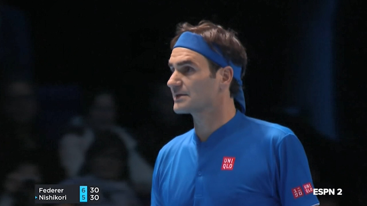 Federer loses cool after stunning Nishikori winner